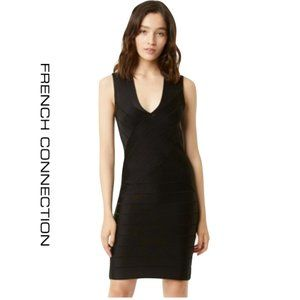 Sexy French Connection Black Bandage Dress - 8